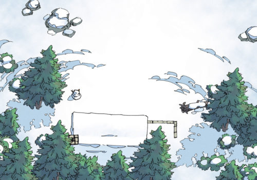 Snowy Hamlet - Day - 22x16