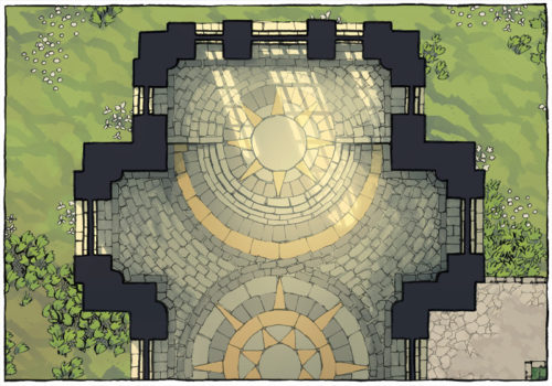 Celestial Temple Battle Map preview - Cropped